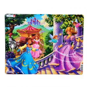 24 Parça Maxi Puzzle : Prensesler